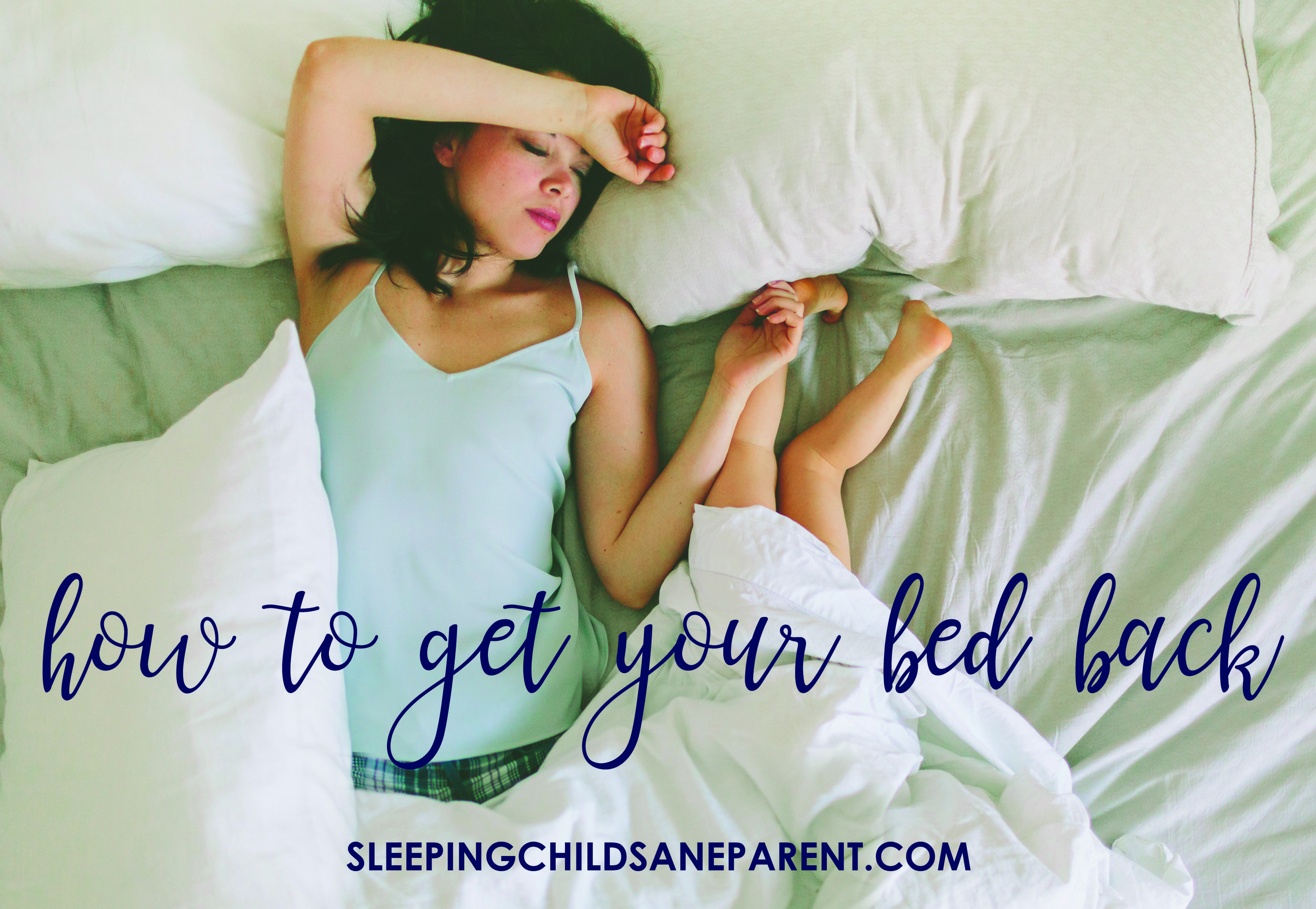 When kids move from a crib to a bed, they suddenly have the freedom to leave their bed, and many kids will take advantage of this! If you want to keep your bed to yourself, follow the steps outlined in this post to teach your child to stay in her own bed.