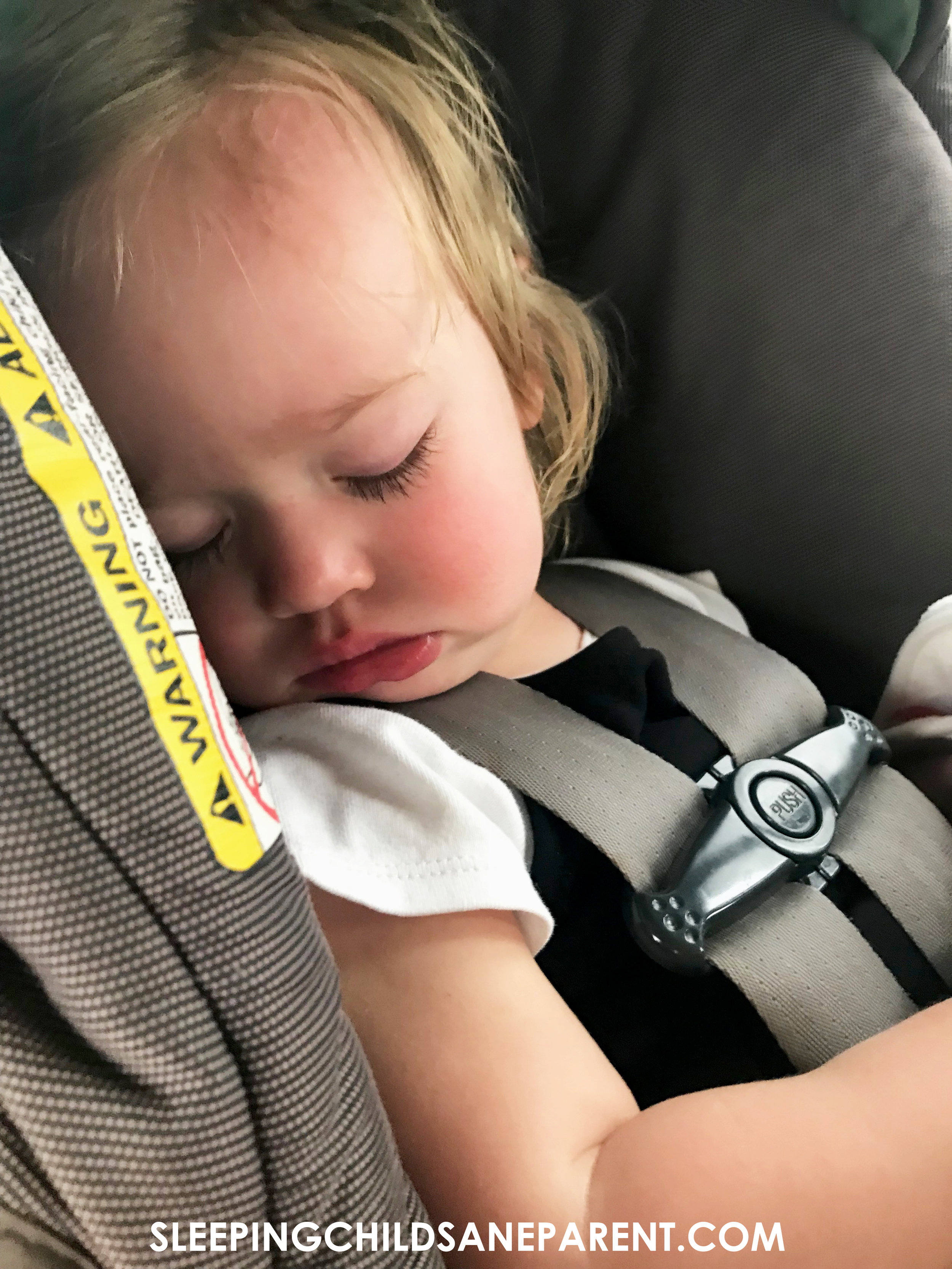 As she's gotten older, my daughter has become increasingly intolerant of carseat naps. she did manage to catch a few minutes on this very long drive.