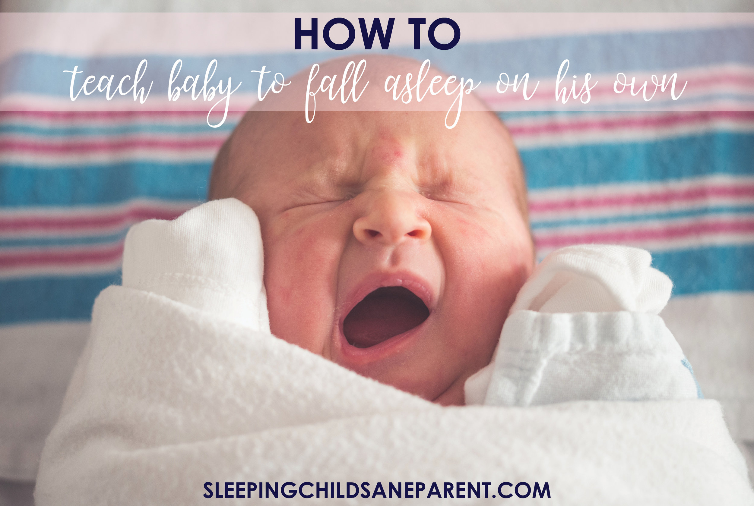 Falling asleep independently can be tricky business for babies. Whether you're hoping to teach your newborn from day 1 or you're trying to unteach and reteach your toddler, you'll find helpful information here on what you can do to start teaching this skill ASAP!