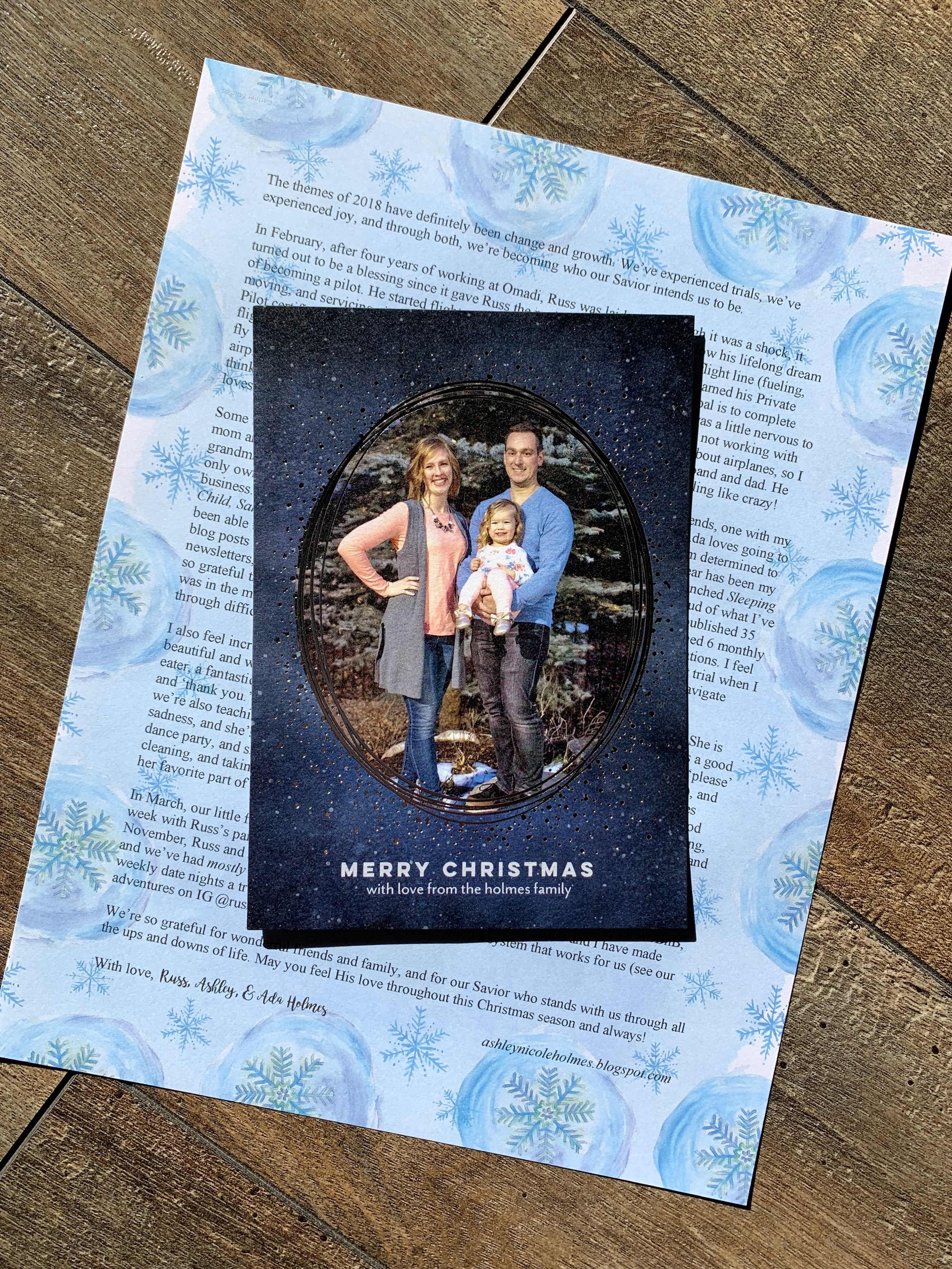 Get on a personal level with certified sleep consultant, Ashley Holmes, as she shares her family Christmas card and newsletter.