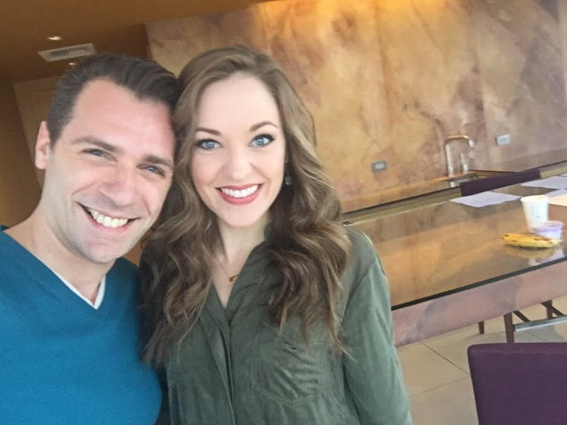 On Set with Laura Osnes for Arts for Autism Broadway Benefit at the Gershwin Theatre