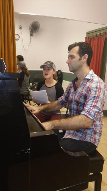 Rehearsing with Sydney Lucas for an  Indigo  NYC Reading