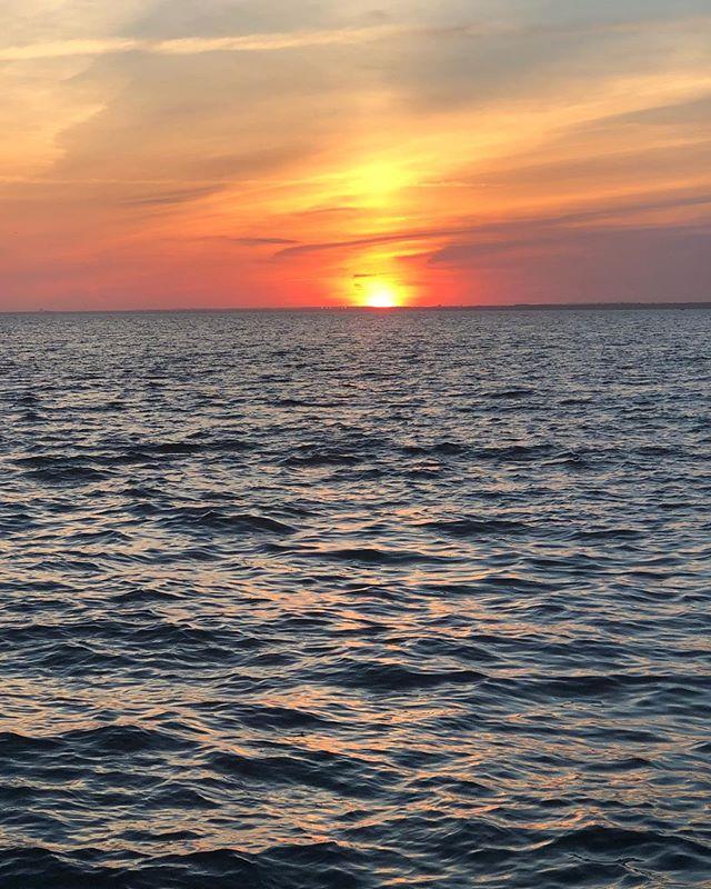 Sunset in paradise. . . . . #fireisland #cherrygrove #sunset #sun. #beach #water #instagay