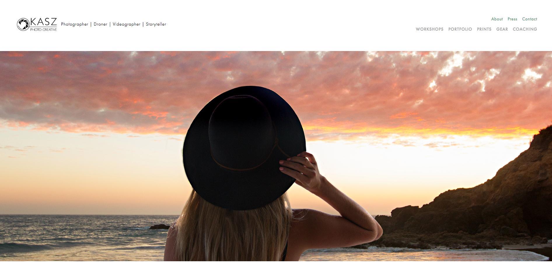 Kasz Photo Creative - New Website & Brand Strategy