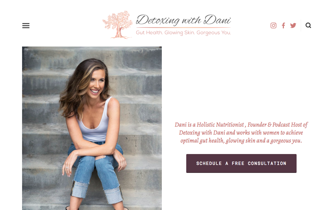 Detoxing with Dani - Website Optimization