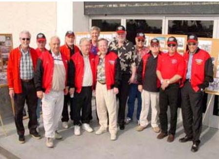 Some of the onginal Road Kings outside the Peterson Museum. LtoR: Tim Ryan, Tim Cederguist, Tom McCoury Don Gaide, Skip Torgeson, Bob Muravez, Tom Ivo, Kenny Safford, Roy nested, Jim Miles, Butch Cederguist and Don Prudhomme