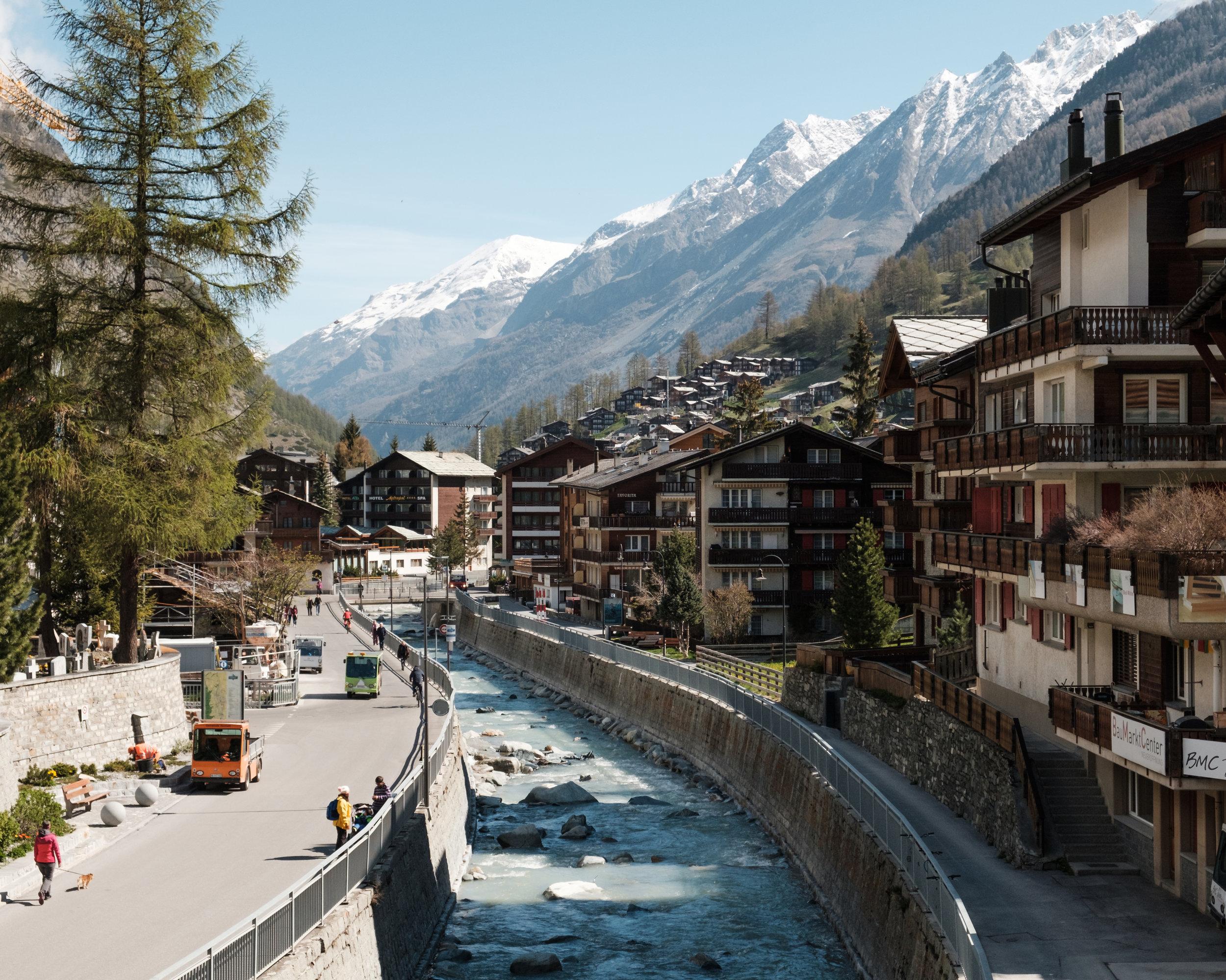 Exploring the streets of Zermatt. -