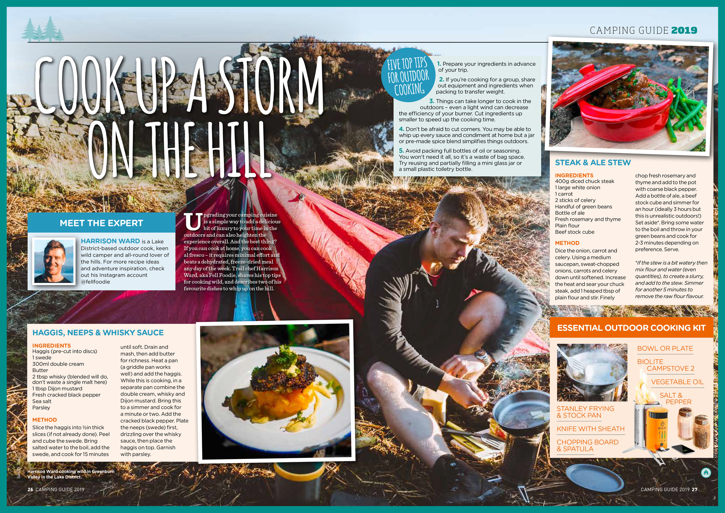 Trail Magazine & Country Walking Magazine: Words by Harrison Ward (Fell Foodie), Background image by myself.