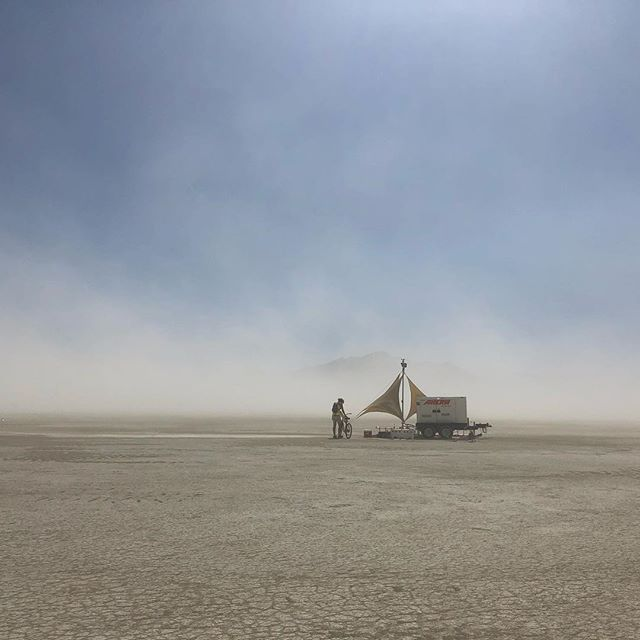 Some of you were wondering what #radialumia was powered by in the desert - it's this 60KW Diesel generator.  #burningman2018