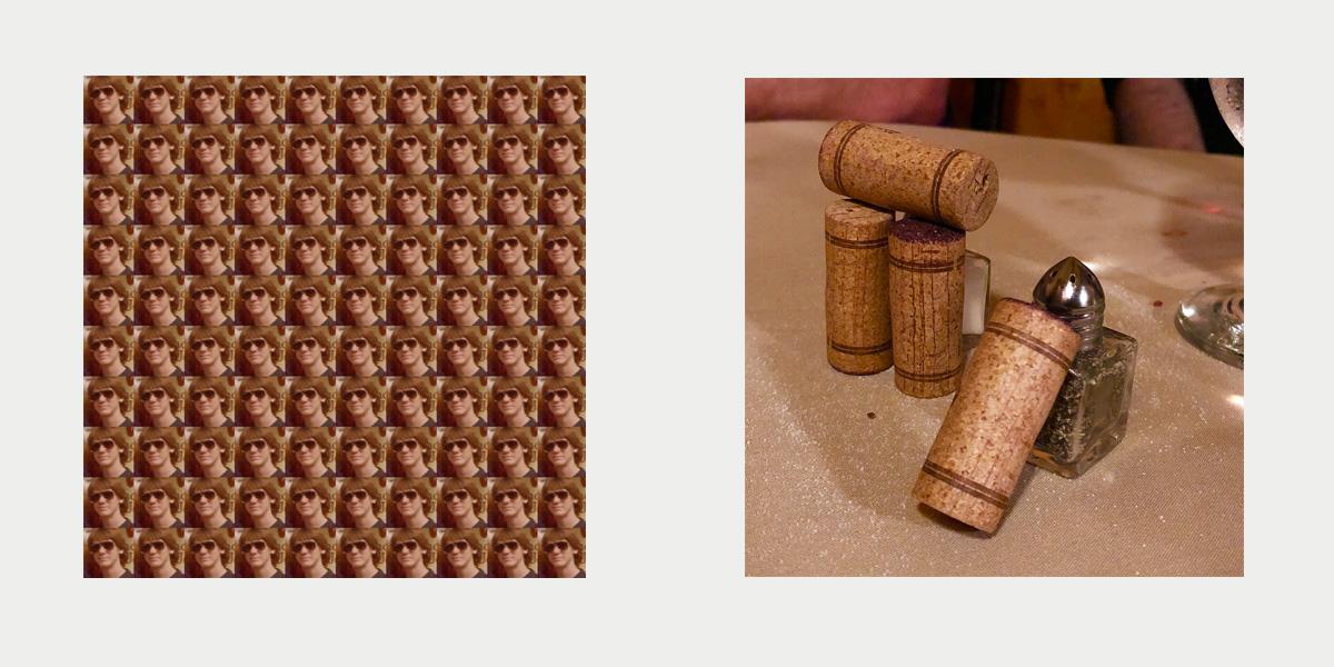 100 Dougs  (left) +  Wine Cork Stonehenge  (right)