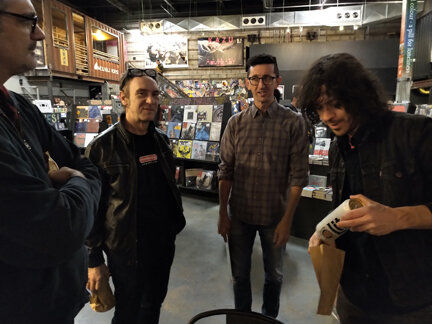 Travis, Doug, George from Rough Trade, Mark