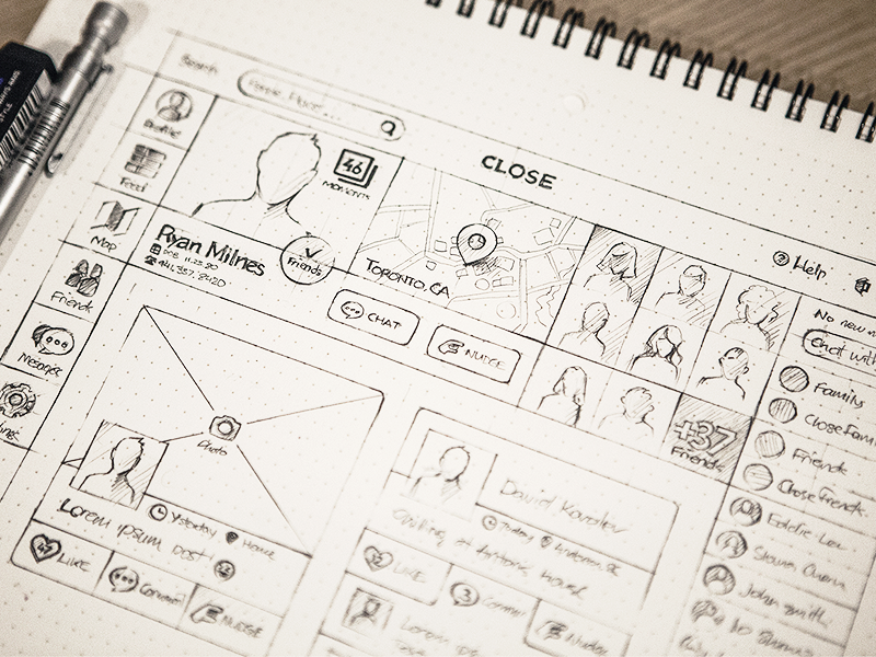 This might be the prettiest UI sketch I've ever seen. (Mine never look like this).