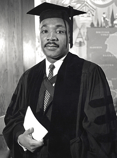 Martin Luther King Jr. graduates with a B.D. degree.jpg