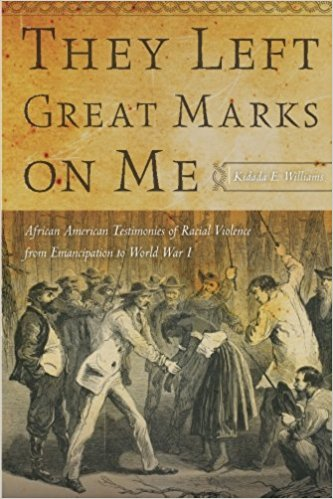 They Left Great Marks on Me: African American Testimonies of Racial Violence from Emancipation to World War I (2012)    By Kidada E. Williams