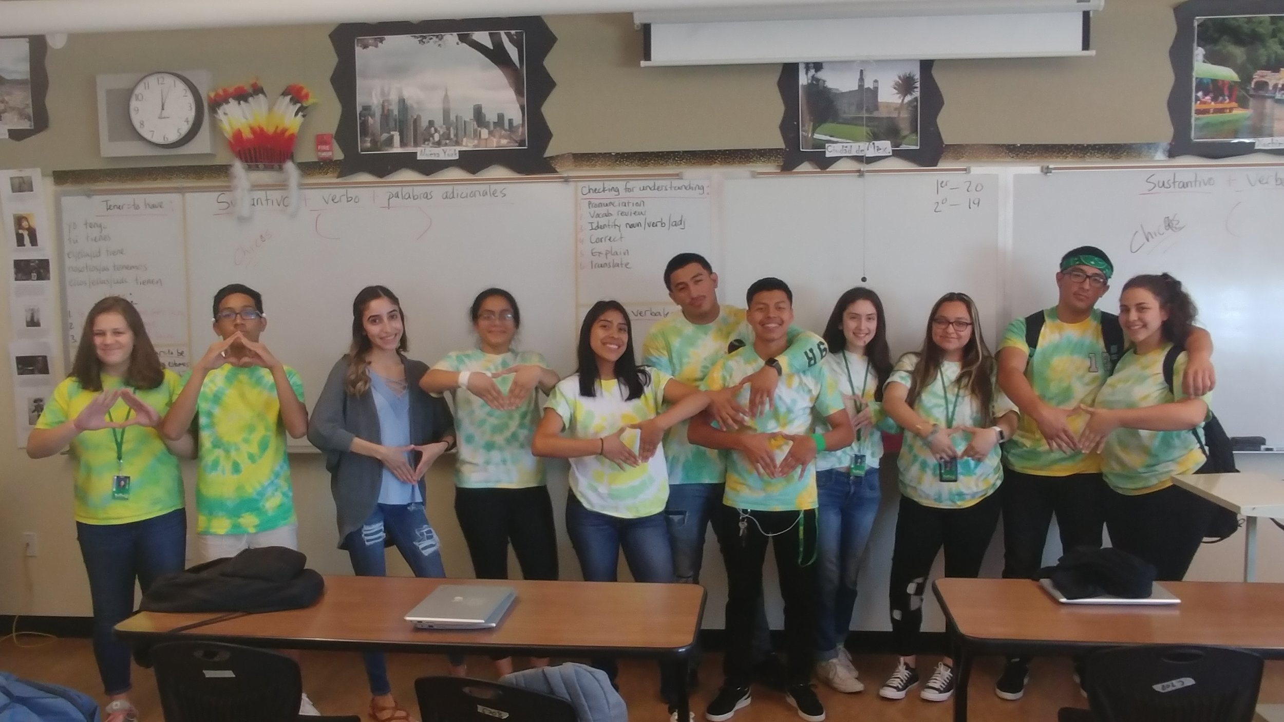 School spirit, Franklin High Spanish club members.jpeg