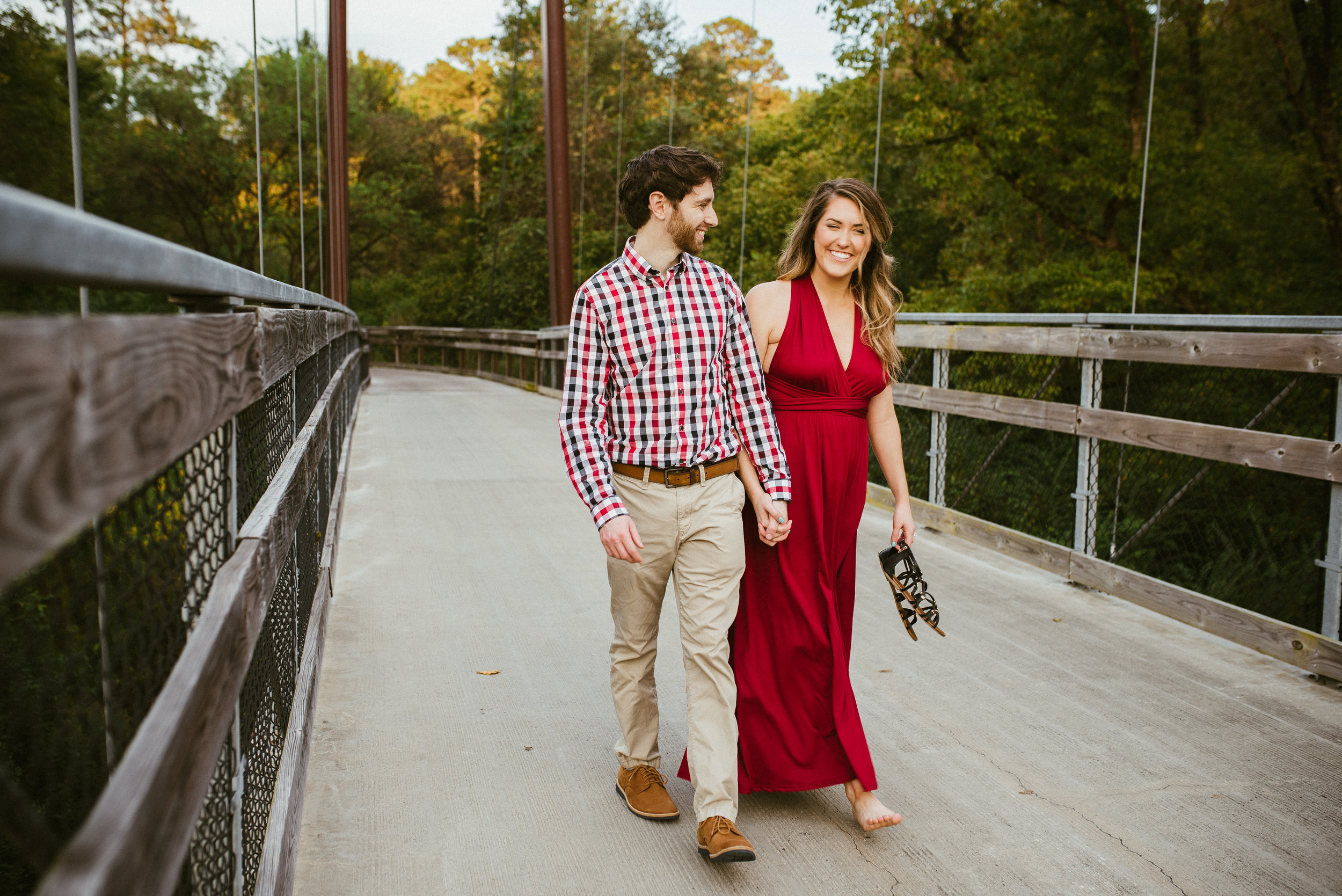 raleigh engagement - raleigh engagement photographer - raleigh bridge