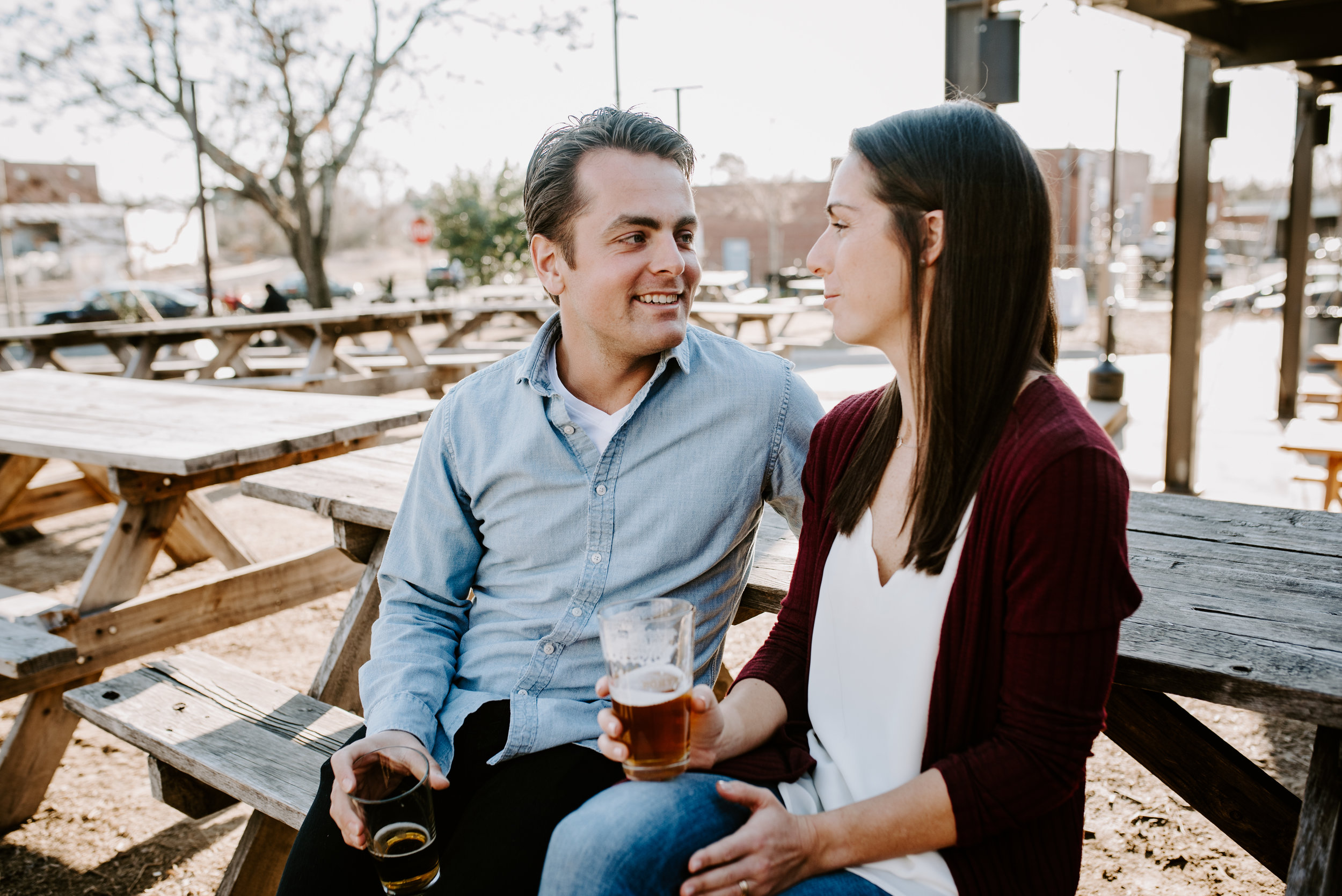 Durham Engagement - Downtown Durham Engagement Photographer -  Durham Photographer