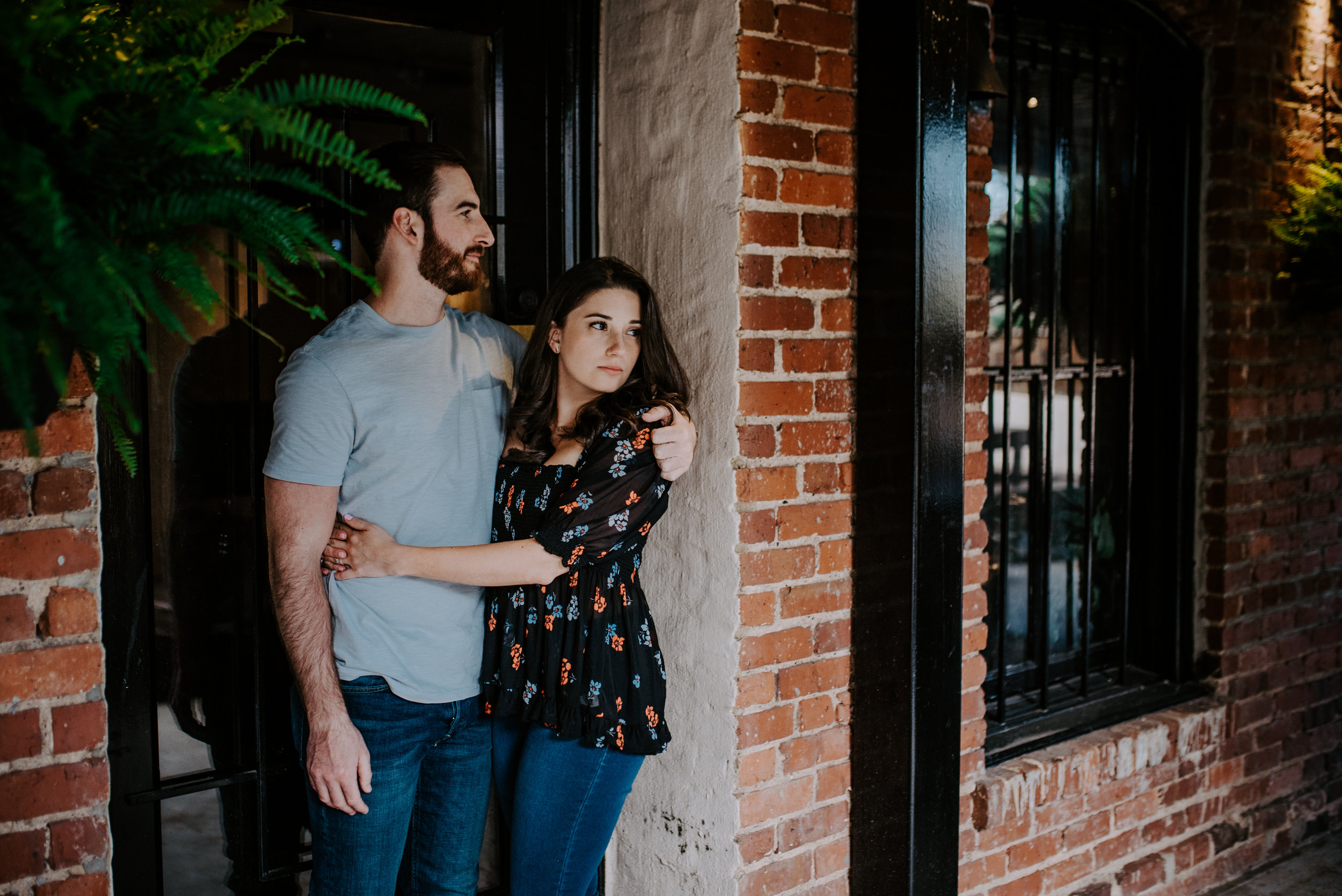 Downtown Raleigh Engagement - Raleigh photographer - Raleigh Engagement Shoot - Joanna Sue Photography - Watts and Ward Engagement