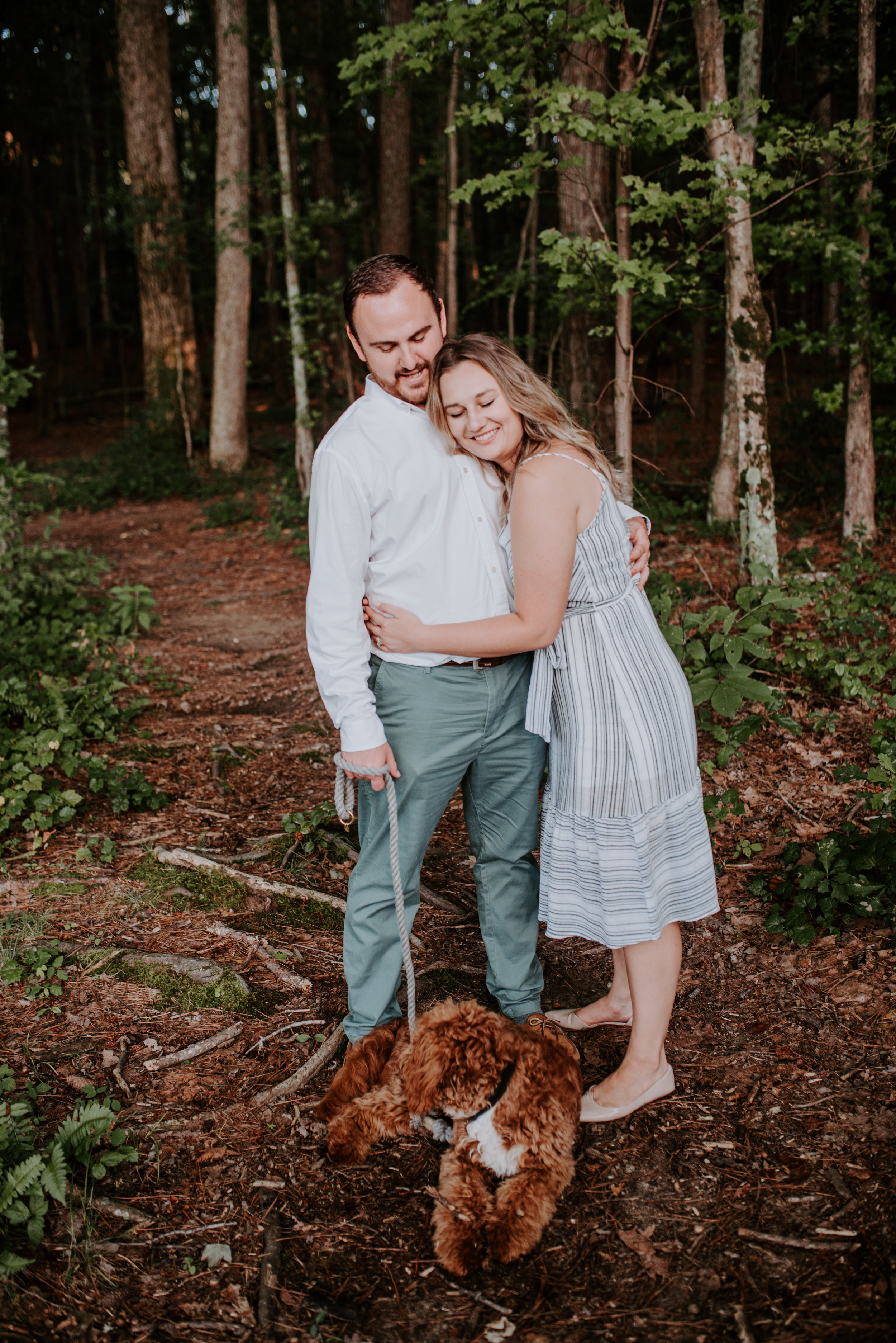 Wake Forest Engagement Photographer - North Carolina Photographer - Raleigh Engagement Photographer - Pet photography North Carolina