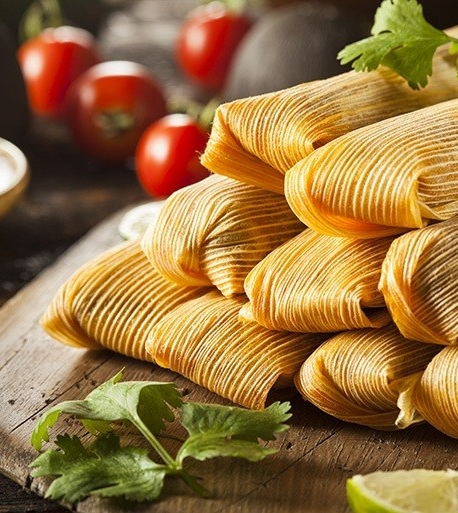 Sweet Potato & Corn Tamales   -