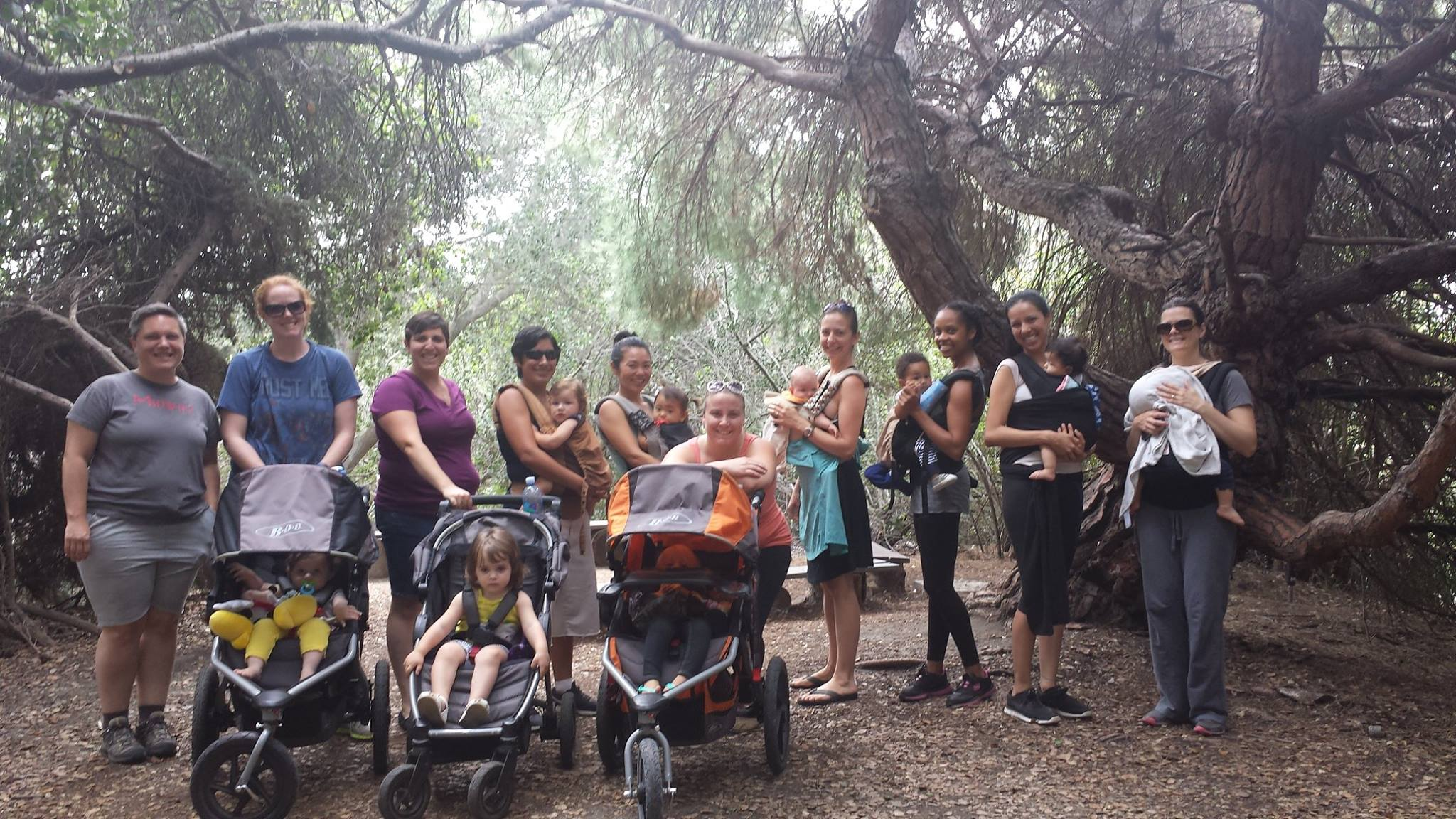 Taproot Midwifery families out for a hike.