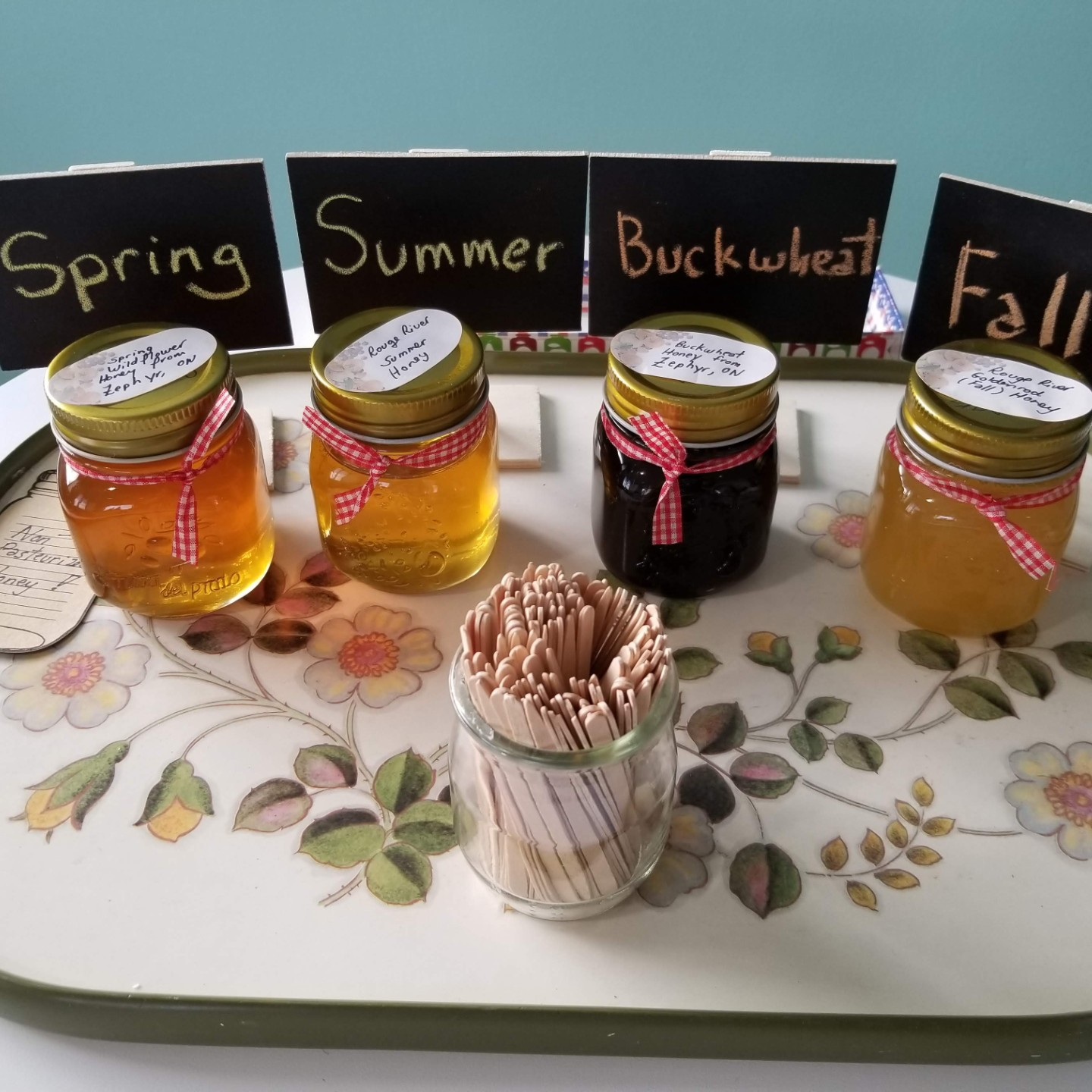 A chance to sample different local honey flavours while learning about what plants attract bees.