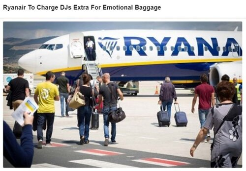 Ryanair to charge DJs extra for emotional baggage