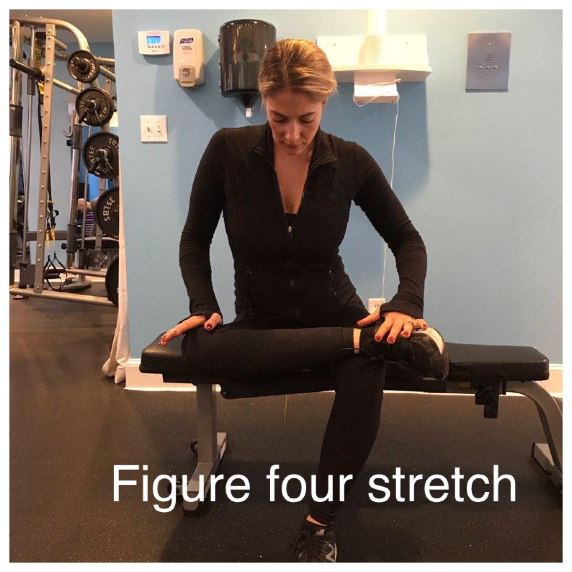 STRETCH 4: FIGURE FOR STRETCH. CAN BE DONE SEATED OR STANDING
