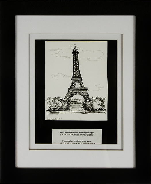 The Tour Eiffel becomes the Tower of Piza after a glass or two of wine.