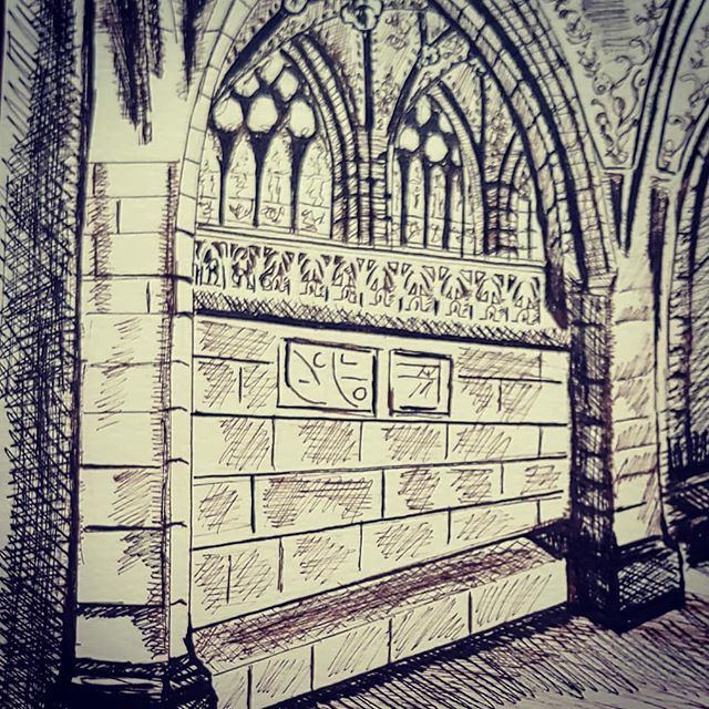 A rock pile ceases to be a rock pile the moment a single man contemplates it, bearing within him the image of a cathedral.  Antoine de Saint-Exupery  #bernswitzerland#cathedralceiling#beautiful #architecture#penandink#inspired #inspiration#worship#inspirationalquotes#antoinedesaintexupery#cfcsarts