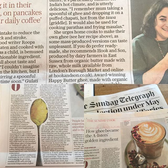 Thank you Sue Quinn @penandspoon for the little mention in the #sundaytimes #sundaycook 😊 your lovely spoon photo @matt_austin_images made it in there too! #ghee #sundaytelegraph #thesundaycook #awardwinning #organic