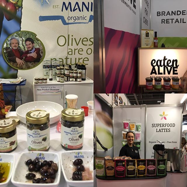 These were a few of our favourite things from the show. Was so nice to meet with new friends like @eatenaliveldn (rather smashing fermented foods) and @sweetrev_uk ( very reviving latte mixes, I recommend the chicory and lions mane latte for a non caffeine pick-me-up) also great to have a drink with @equinoxkombucha ( I'm a longtime fan) was good to say hi to @boroughbrothcompany and our chums @pukkaherbs also very lovely ( slightly star struck 🤩 ) my brief meeting with @patrickholford.uk hope you like the ghee Patrick! Bit of a come down today and lots of lovely people to reconnect with this week to follow up #connect #friendsoldandnew #naturalandorganicproducts2019 #excel #london #smallbusiness #organic