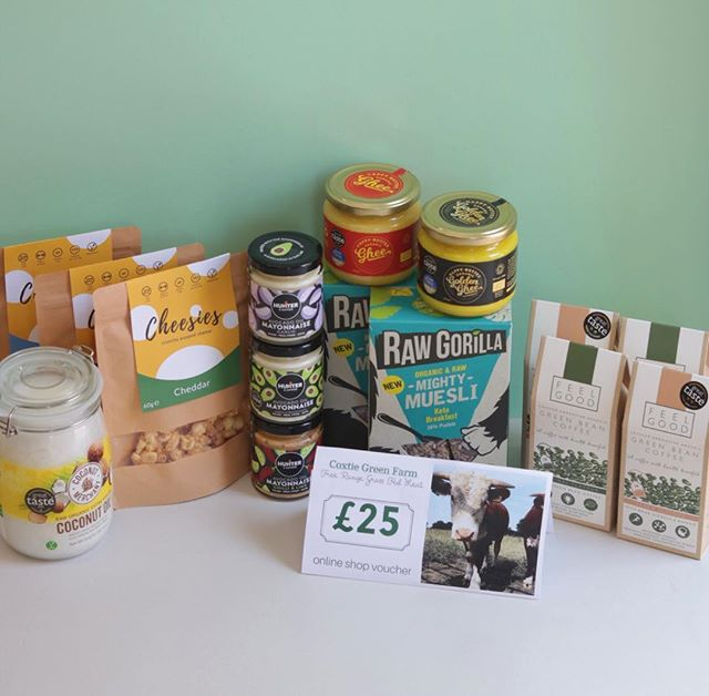 BIG KETO GIVEAWAY  The prize bundle includes a £25 online voucher for grassfed meat from @coxiegreenfarm a huge tub of coconut oil from @coconutmerchant 2 boxes @rawgorilla mighty muesli, 4 packs green bean coffee from @feel_good_coffee 2 jars of our finest Ghee 3 pots of avocado mayonnaise from @hunterandgatheruk and 9 packs @snackcheesies. Phew 😅 you need to follow all participating brands like this post and tag 2 keto friends in the comments  T & C one entry per post per account. Commenting multiple times on the same post will not increase your chance of winning. You may only enter multiple times by entering on each participating brands individual post. No giveaway accounts allowed. UK mainland delivery only. #springbankholiday #keto #lowcarb #smallbrands