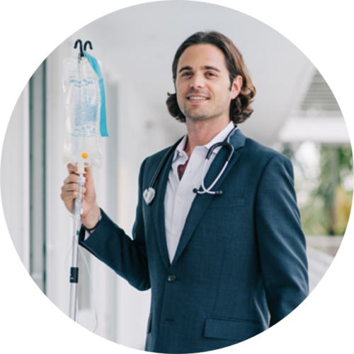 Your IV Therapist - Hi, I'm Dr. Jarred Mait. I am a licensed general medicine and holistic physician with degrees from the University of Miami and Washington University in St. Louis. I created IVDIV to provide premier medically administered IV service in Miami. In the comfort of your home, office, or hotel, one of our highly-trained professionals will administer vitamins, minerals, nutrients, and medicines directly into your bloodstream.