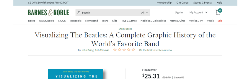 →  Click here to buy Visualizing The Beatles from Barnes & Noble