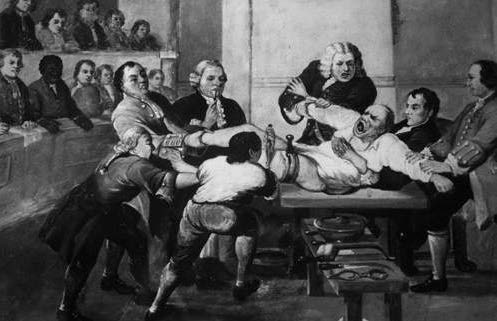 The oldest operating theatre in Britain opened in 1822 and was rediscovered in the roof of St Thomas's Church in 1956. Operations used to be advertised in newspapers and surgeons would get a round of applause at the end of the procedure from the paying public.