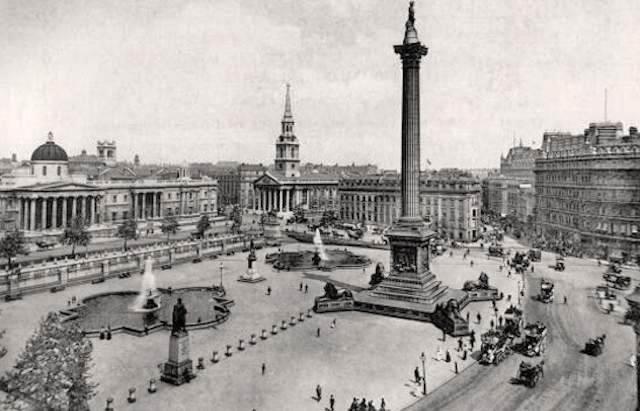 In 1842 before the 17ft statue of Nelson was erected on top of the Trafalgar Square column 14 members of the Memorial Committee, who had commissioned the work, held a dinner party on the 170ft-high plinth.