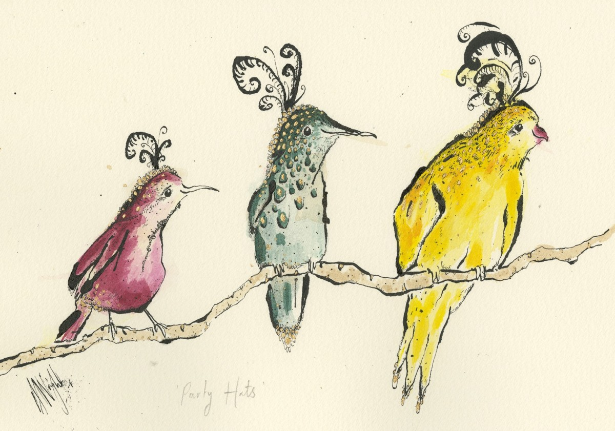 Anna Wright - Anna uses a wide range of media to create loose drawings of living creatures.