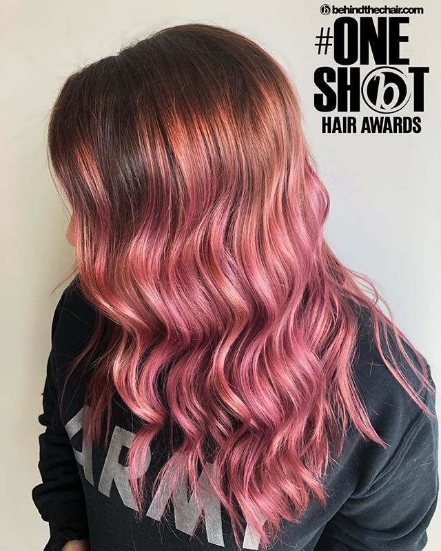 Blushin💋 . This babe actually came in today for her first session working our way back to blonde but I'm still loving the pink we got her to a few months ago! So fitting for her sweet spirit💓 . #btconeshot19_unconventionalcolor  #btconeshot19_vibrant  #btconeshot19_emergingartist  #btconeshot19_curls