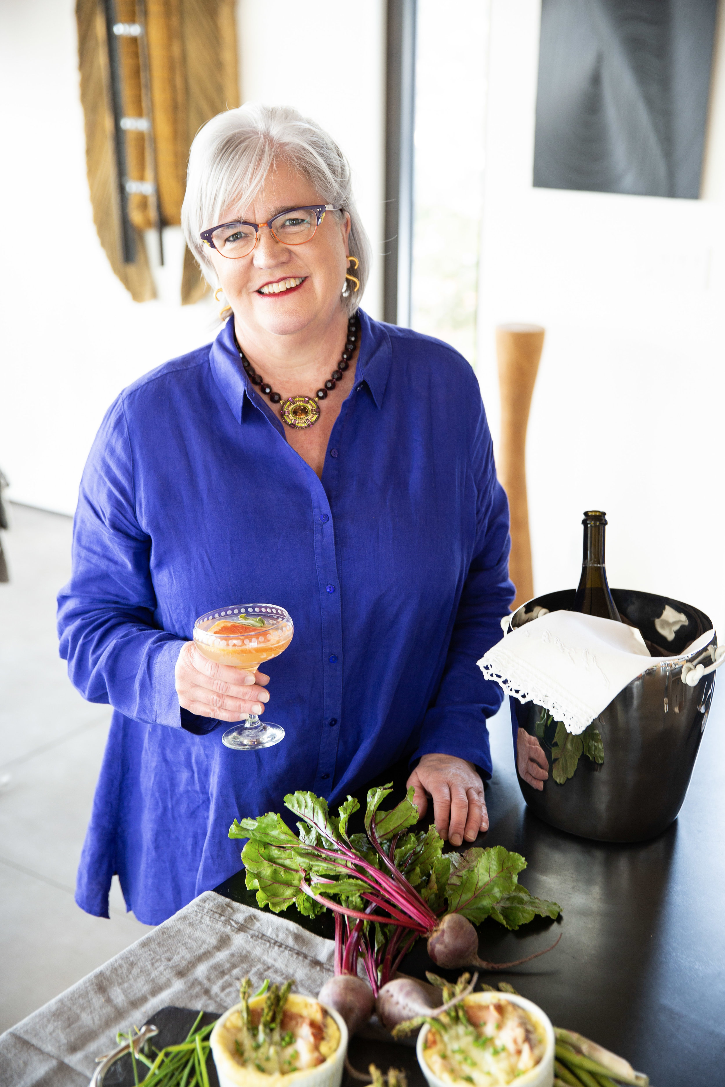 Our lovely Katherine Forelle who is our house chef/baker and veteran hostess hailing from Connecticut.......now she knows how to throw a dinner party!