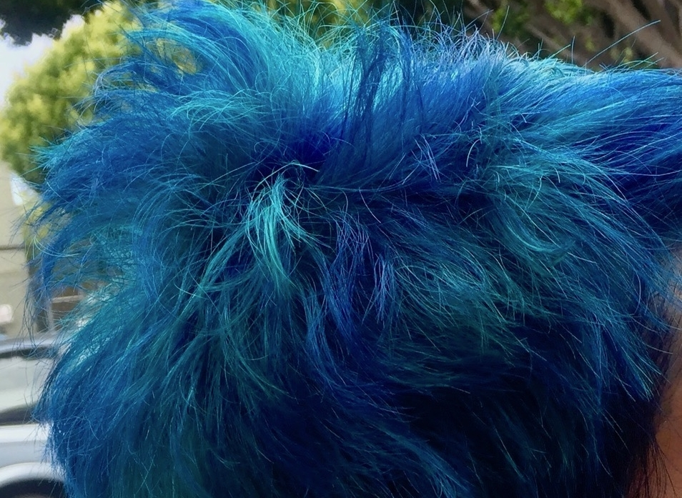 My hair in ocean colors