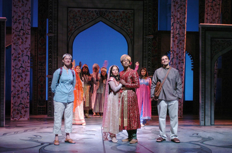Front: Lesley Fera (Rachel), Sunita Param, Anil Margsahayam, Samir Younis (Abhi). TheatreWorks. Photo: David Allen.