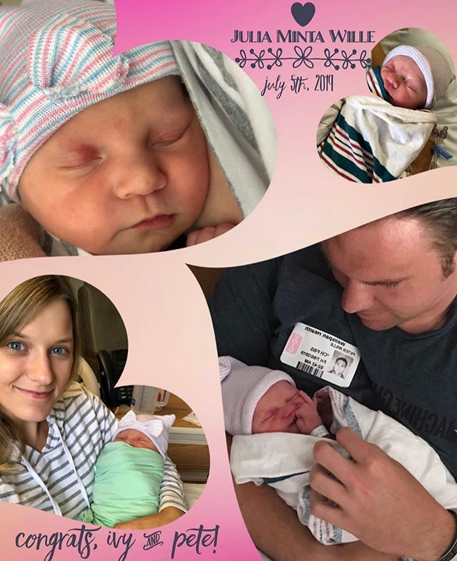 CONGRATS to the newest parents of the PA team! 🎀 . On the early morning of July 5th, 2019, Ivy and her husband Pete welcomed their beautiful baby girl, Julia, into the world! 🎀 . We're so excited for their new journey and to welcome the little miss into the loving arms of our Patriot Advantage team family 🥰 We love you all! . . #thepatriotadvantage #newmom #happybirthdaybaby #babygirl #personalassistant #virtualassistant #remotejobs #pafamily #sweetsaturday @ivywille