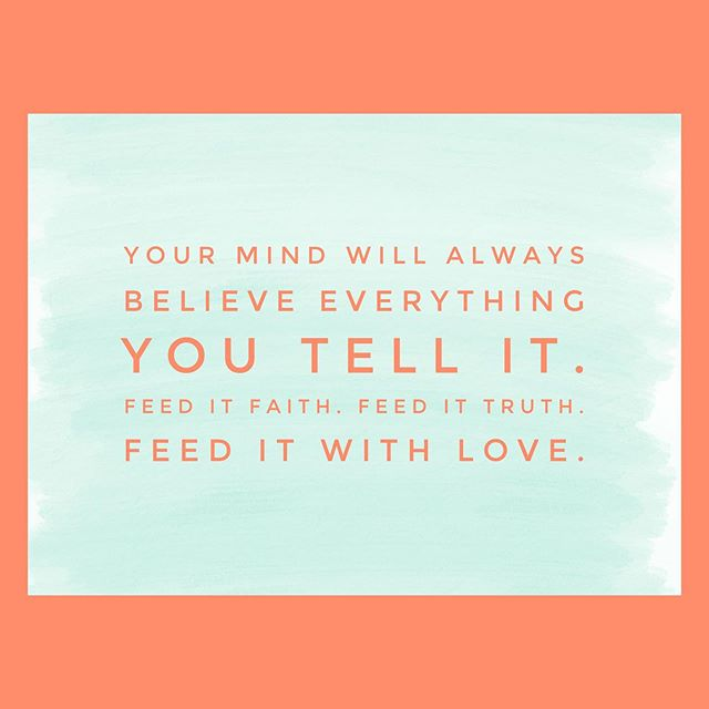 Your mind will always believe everything you tell it. Feed it faith. Feed it truth. Feed it with love. . Let's help each other put those positive vibes out there; pray for one another and keep each other accountable to BELIEVE & tell ourselves good things ARE coming our way. . Comment below with what you want your mind to believe WILL happen👇🏻👇🏻👇🏻 . . #mondaymotivation #thepatriotadvantage #personalassistant #virtualassistant #remotejobs #militaryspouseemployment #milspouse #positivevibes