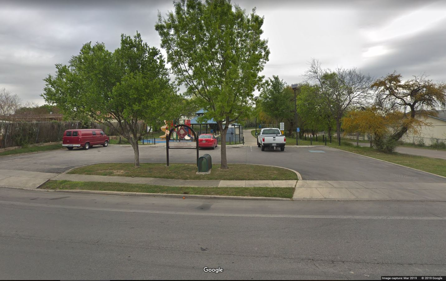 South Entrance to Tom Slick Park (Photo: Google Streetview)