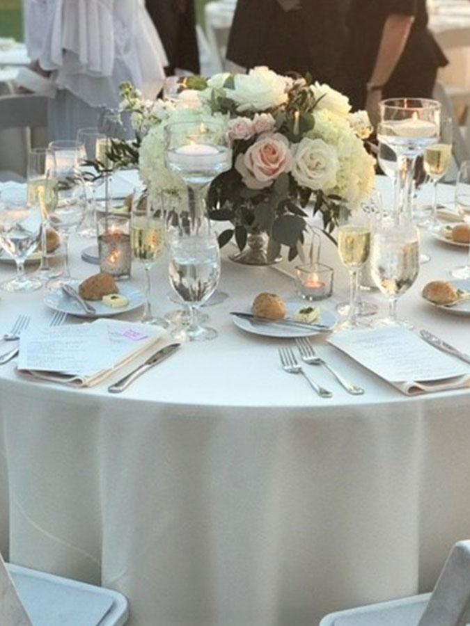elegant seated dinner setting
