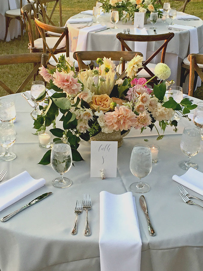 rustic chic place settings