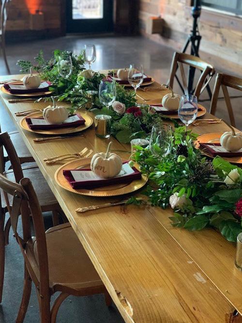 autumnal head table