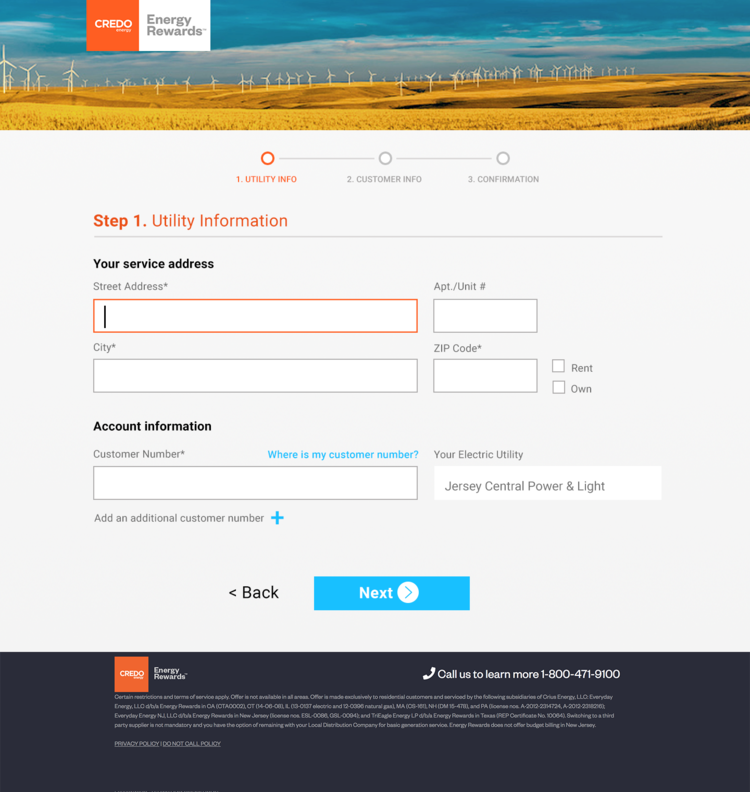 New User Flow - Step 1
