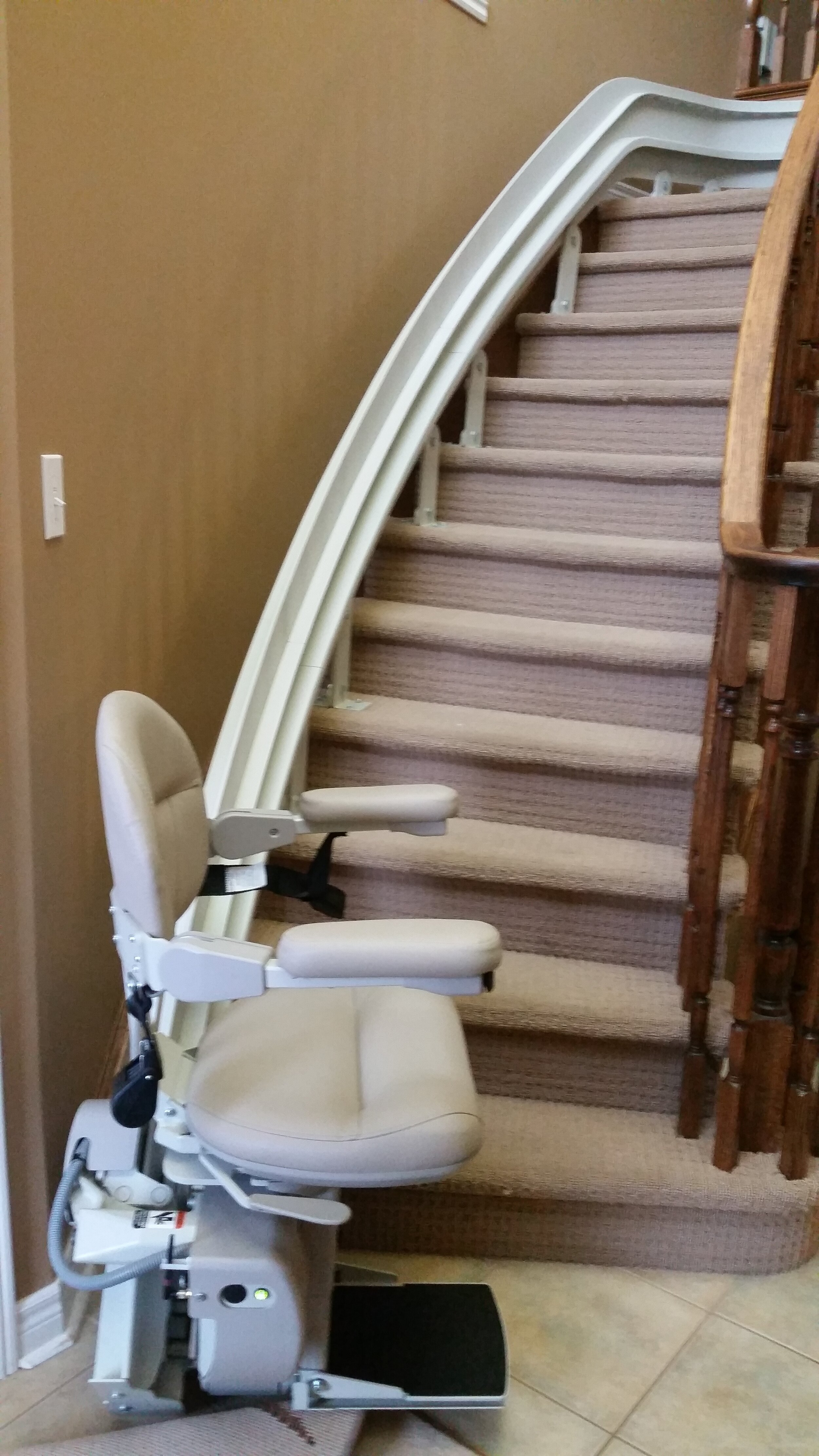 Remain in Your Own Home with a Stair Lift - Safely Ride from Level to level in your own home.